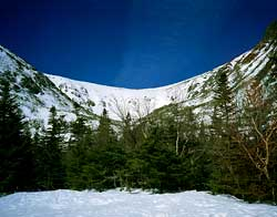 Tuckerman's Ravine at Mount Washington in the White Mountains of New Hampshire